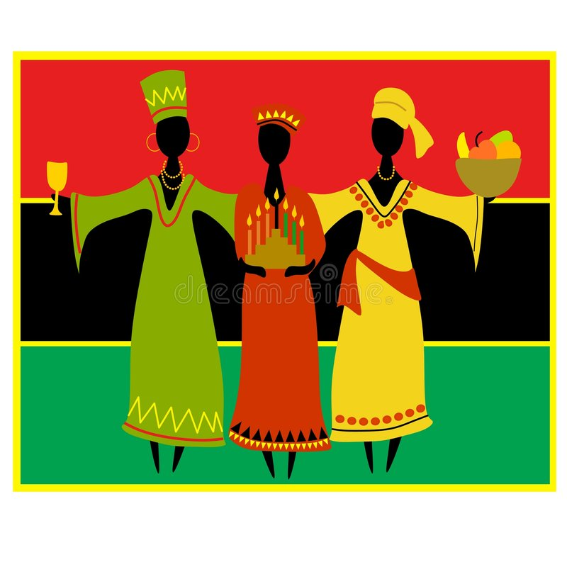 Kulturelle Kwanzaa-Feier stock abbildung