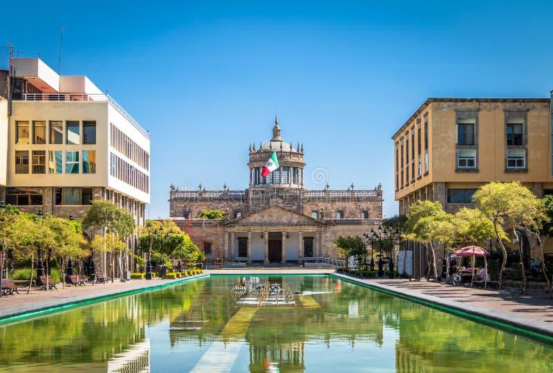 Kulturellt institut för Hospicio CabanasCabanas - Guadalajara, Jalisco, Mexico arkivfoto