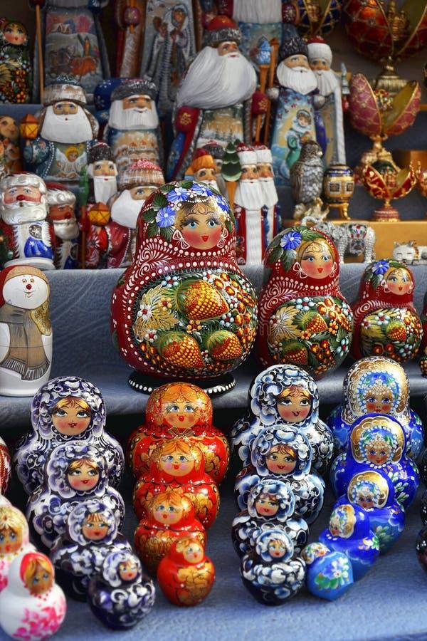 Kultury Rosyjskie Sprzedaży Pamiątki Symboliczne Zdjęcia Royalty Free