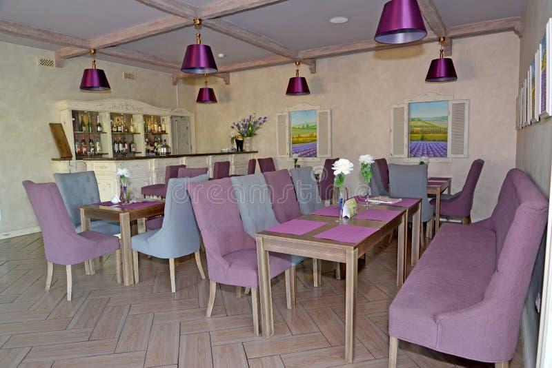 Kuluarowy prętowy wnętrze w hotelu Provence styl obraz stock