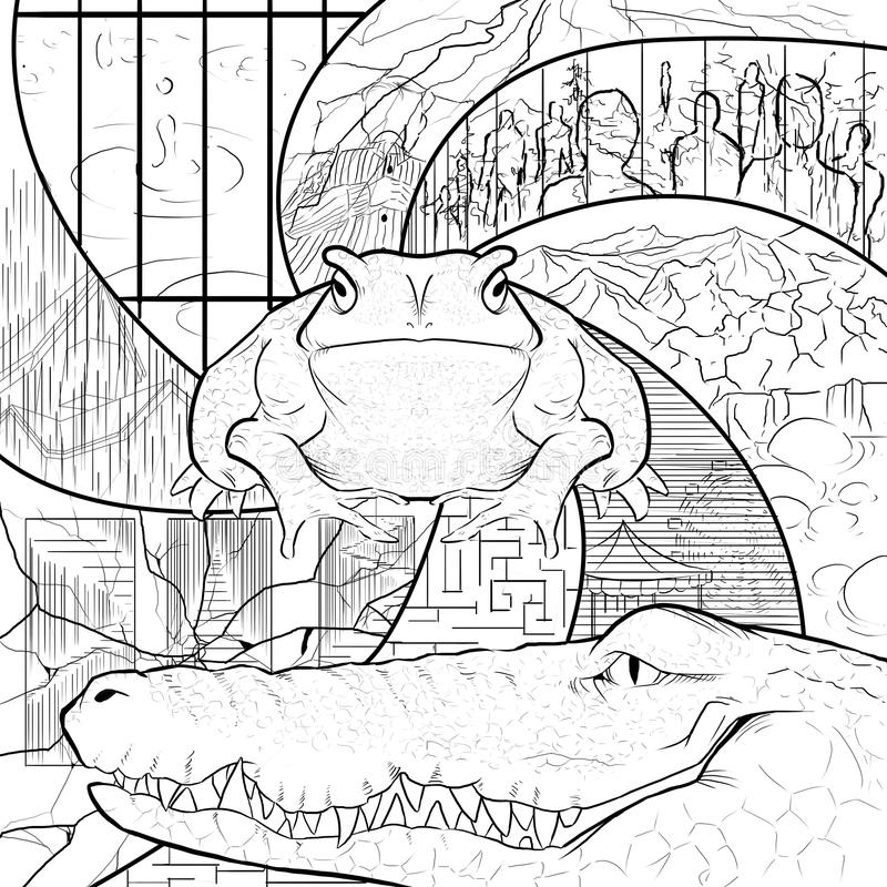 Kumak ma Bezsennego nocy pomstowanie royalty ilustracja
