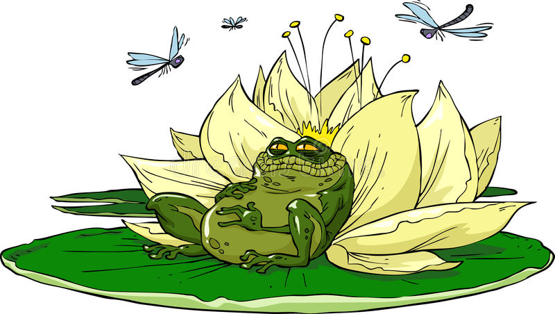Kumak na lelui ilustracji