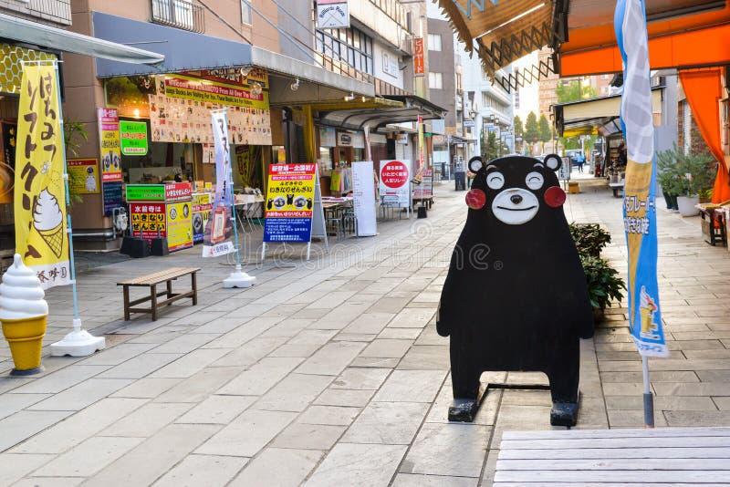 Kumamon,城市吉祥人熊 免版税库存照片