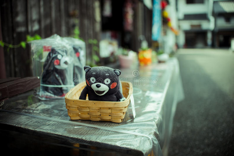Kumamon (jouets d'ours) images libres de droits