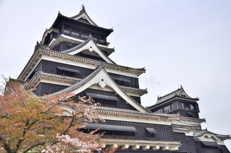 kumamoto της Ιαπωνίας κάστρων στοκ εικόνα με δικαίωμα ελεύθερης χρήσης