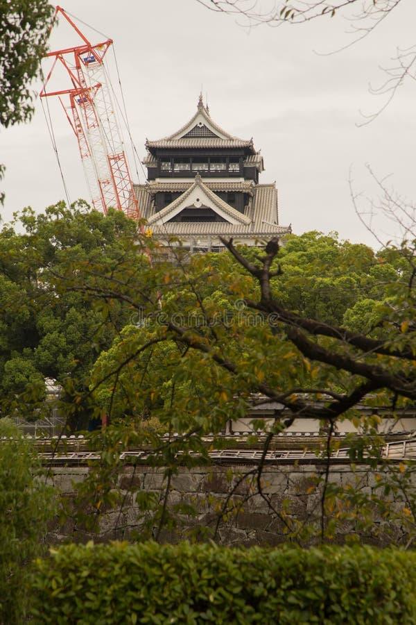 Kumamoto Castle κατά τη διάρκεια της αναδημιουργίας Kumamoto Ιαπωνία, το famou στοκ φωτογραφίες