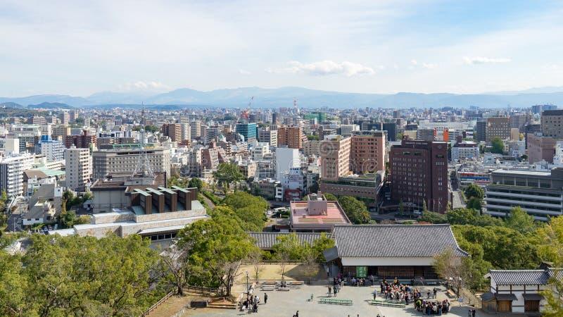 Kumamoto-Panorama-Ansicht stockbild