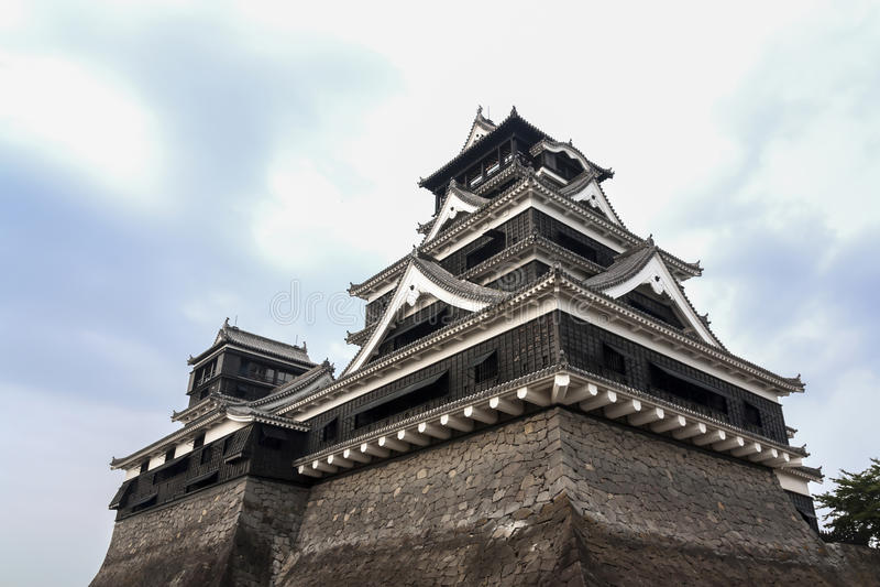 Kumamoto slott - Kyushu, Japan arkivfoto