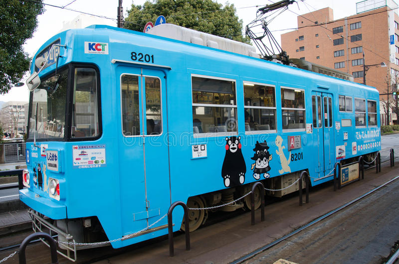 Kumamoto-Tram stockfoto