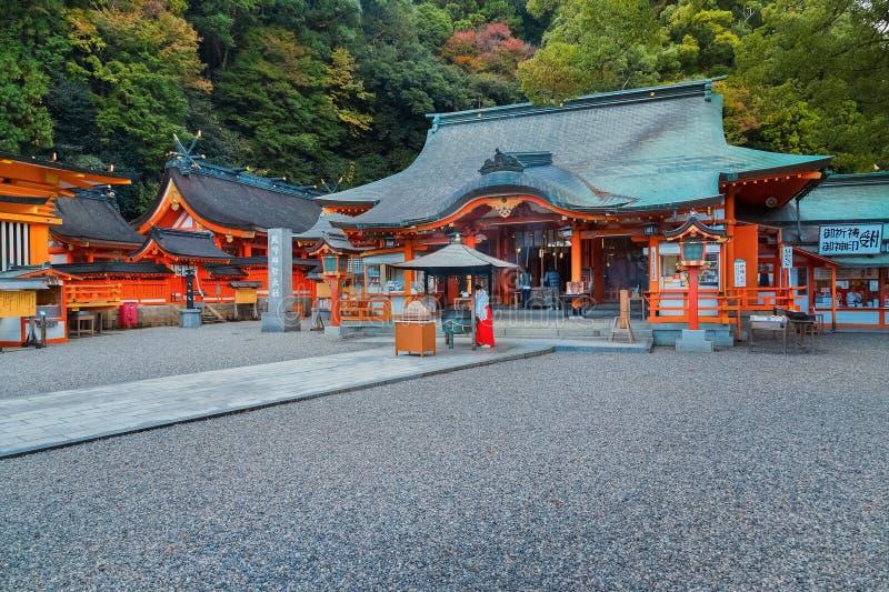 Kumano Nachi Taisha盛大寺庙在和歌山,日本 免版税库存照片