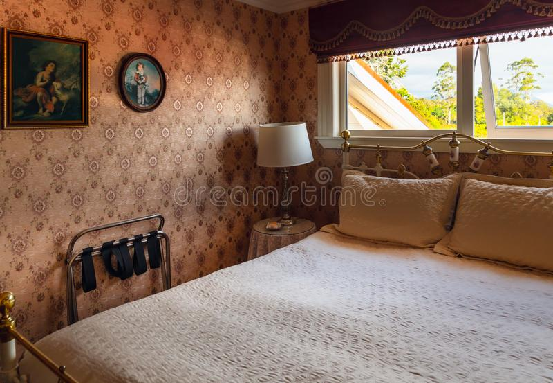 Kumara镇,NZ 巴巴拉威尔登室妓院内部在剧院皇家旅馆里 库存图片