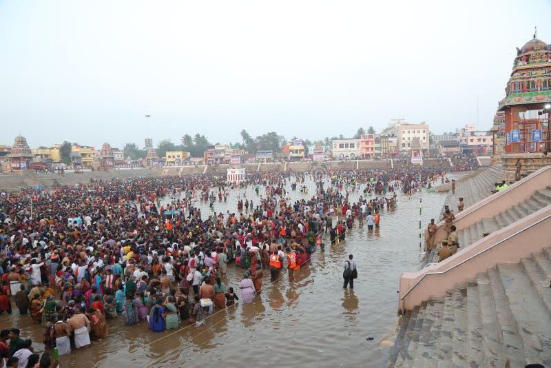 kumbakonam het festival van Maha magam royalty-vrije stock foto's