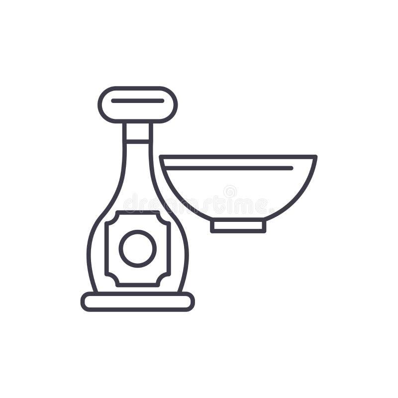 Kumberland w butelki linii ikony pojęciu Kumberland w butelki wektorowej liniowej ilustracji, symbol, znak royalty ilustracja