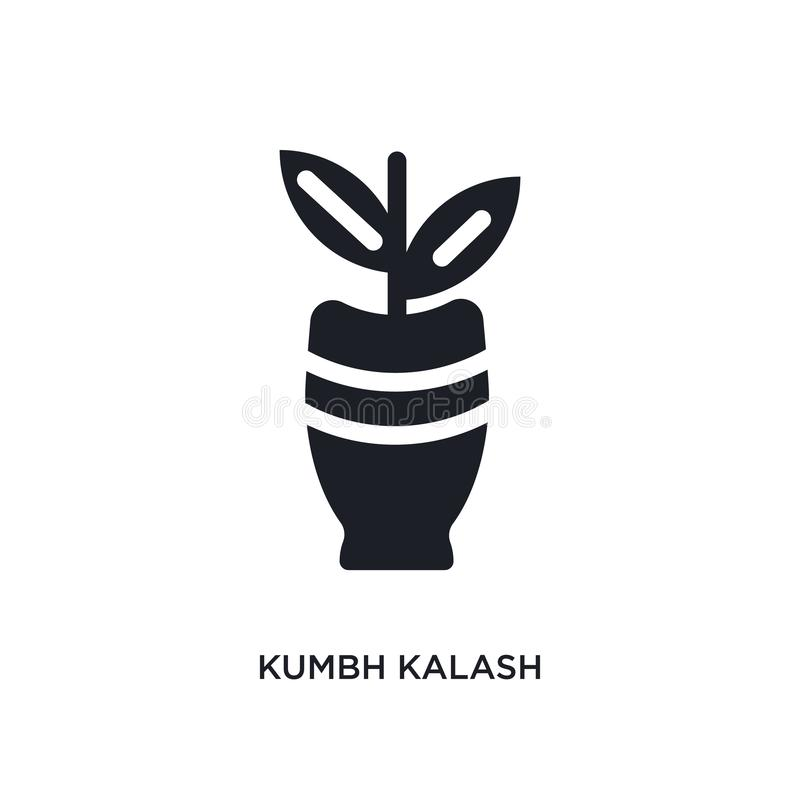 kumbh kalash geïsoleerd pictogram eenvoudige elementenillustratie van het conceptenpictogrammen van India kumbh kalash editable h vector illustratie