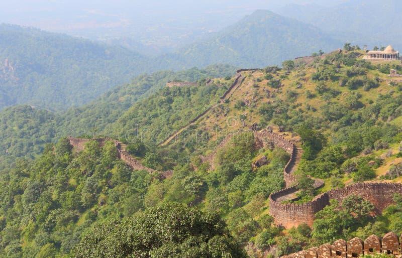 Kumbhalgar堡垒墙壁  库存图片