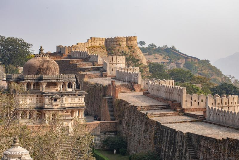 Kumbhalgard Fort nel rajasthan india fotografia stock libera da diritti