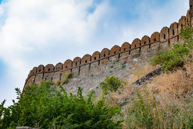 Kumbhalgard Fort nel rajasthan india fotografie stock