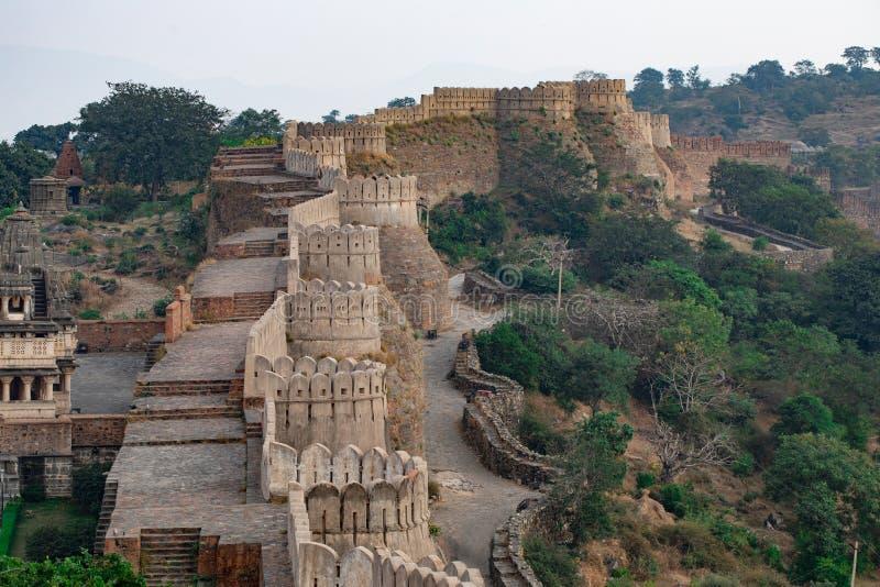 Kumbhalgard Fort nel rajasthan india immagini stock libere da diritti