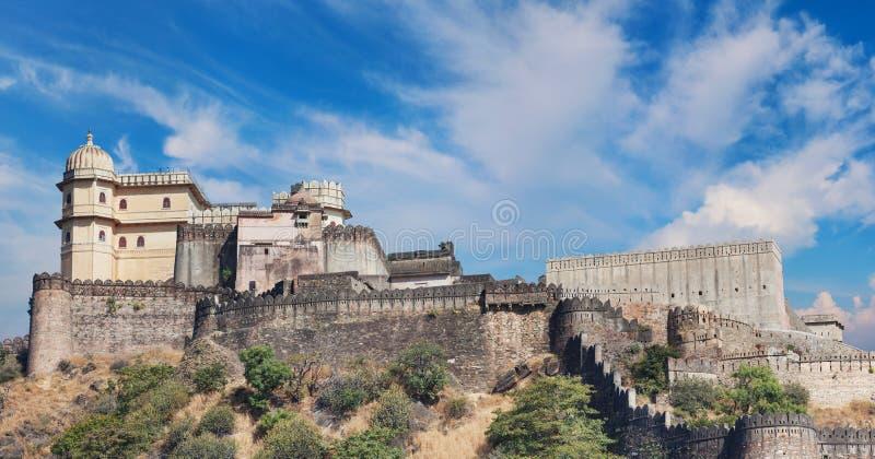 Kumbhalgarh堡垒全景 拉贾斯坦,印度 库存照片