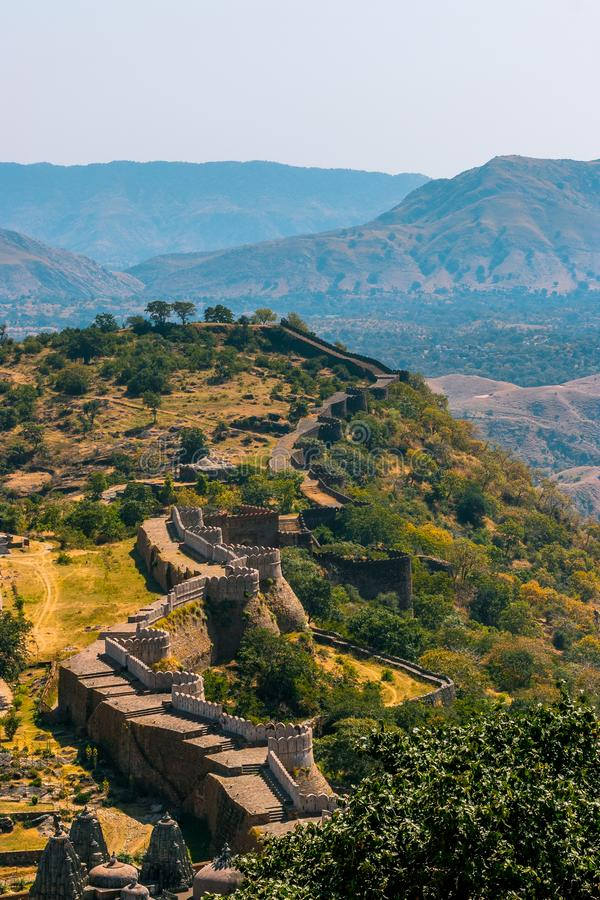 Kumbhalgarh堡垒,乌代浦,拉贾斯坦 库存图片