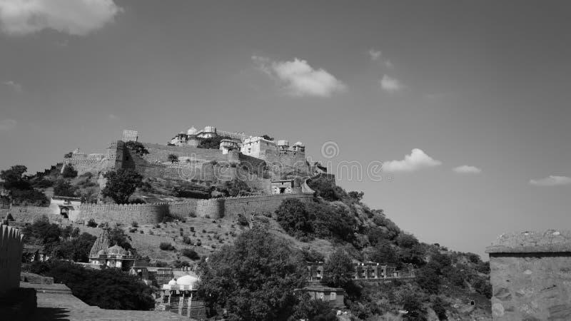 Kumbhalgarh Fort royaltyfria foton