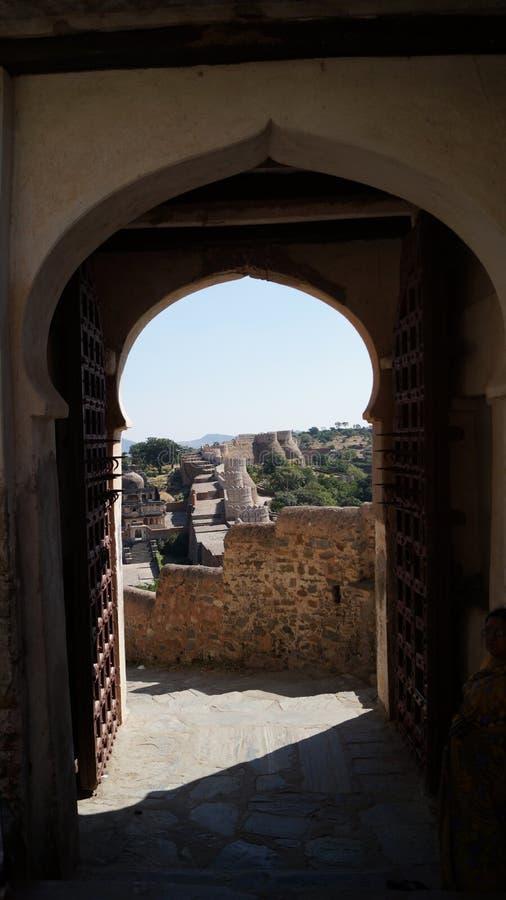 Kumbhalgarh Fort royaltyfri fotografi