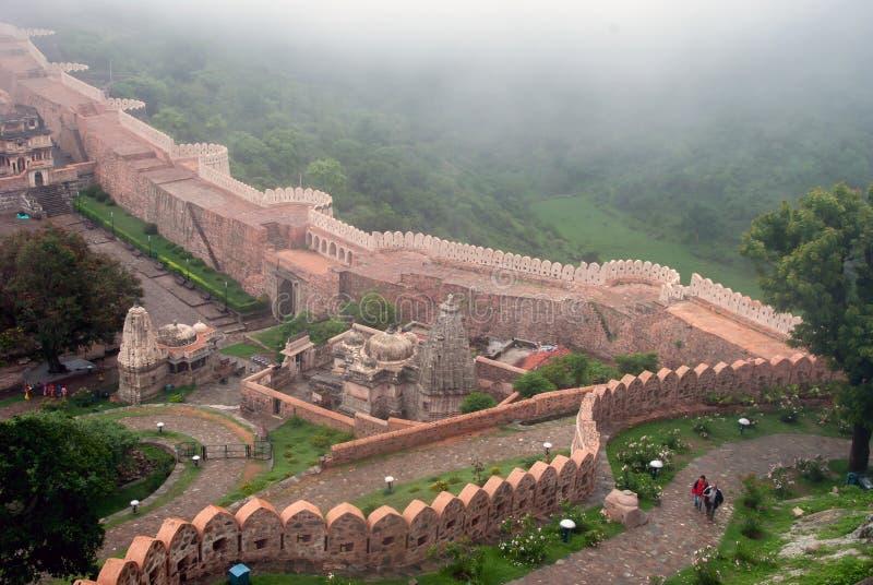 Kumbhalgarh Fort lizenzfreie stockfotos