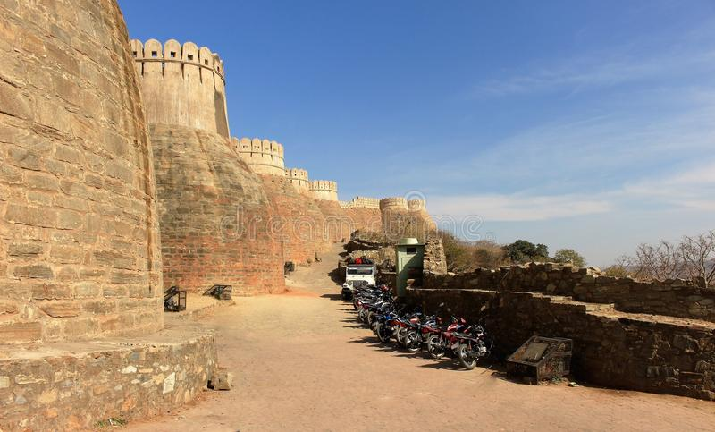 Kumbhalgarh Fort stockbild