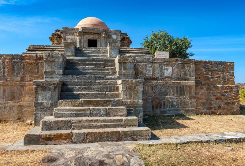 Kumbhalgarh fort i Rajasthan, Indien fotografering för bildbyråer
