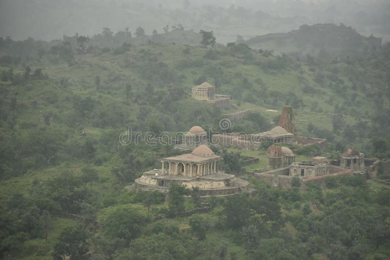 Kumbhalgarh fort och monument, Rajasthan arkivfoton