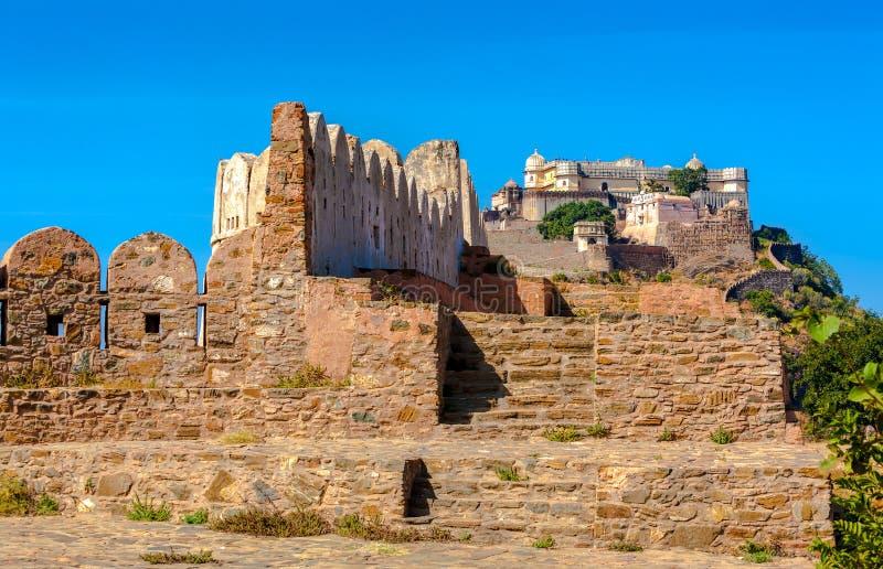 Kumbhalgarh fort, Rajasthan, Indien, Asien arkivbild