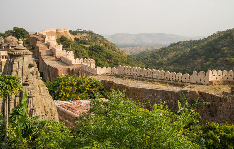 Kumbhalgarh fort wall royalty free stock images