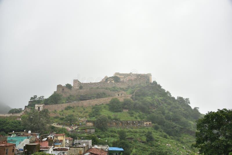 Kumbhalgarhfort en monumenten, Rajasthan royalty-vrije stock foto