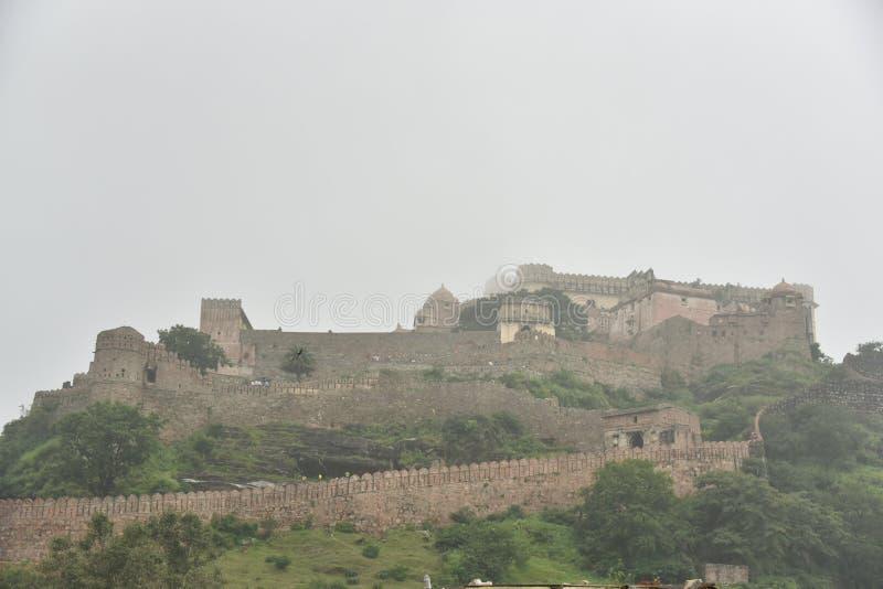 Kumbhalgarhfort en monumenten, Rajasthan royalty-vrije stock afbeeldingen