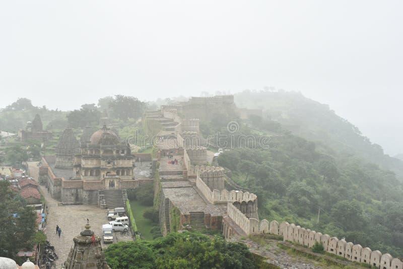 Kumbhalgarhfort en monumenten, Rajasthan stock afbeeldingen
