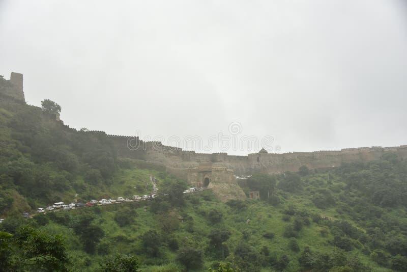 Kumbhalgarhfort en monumenten, Rajasthan royalty-vrije stock fotografie