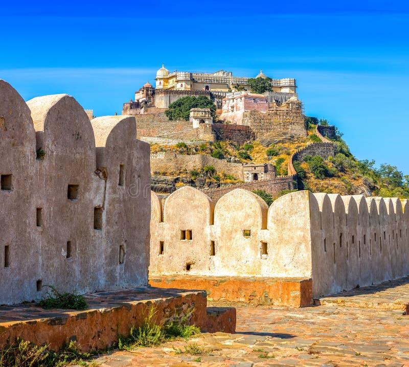 Kumbhalgarhfort, Rajasthan, India royalty-vrije stock afbeelding