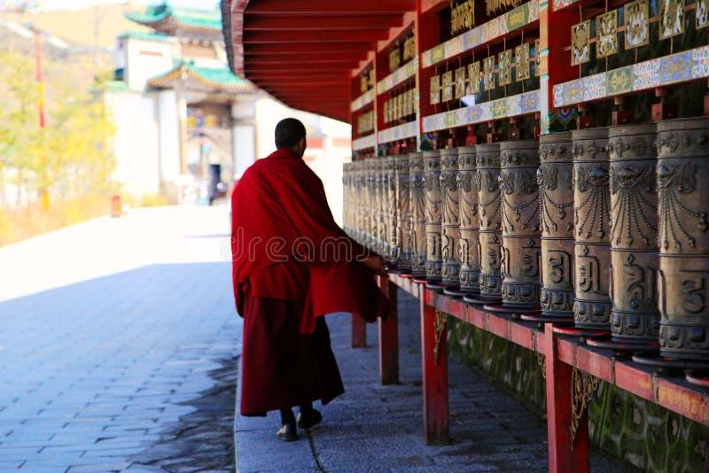 Kumbum修道院, taersi,在青海,中国 图库摄影