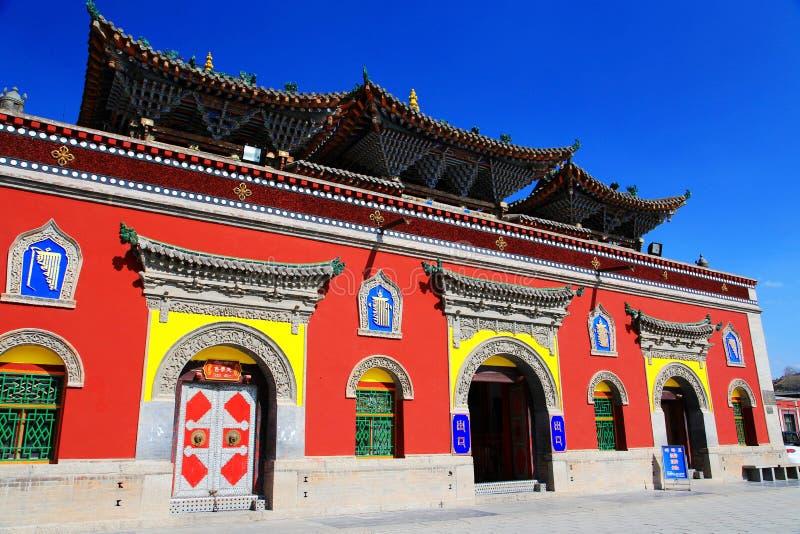 Kumbum monaster, taersi, w Qinghai, Chiny obraz royalty free