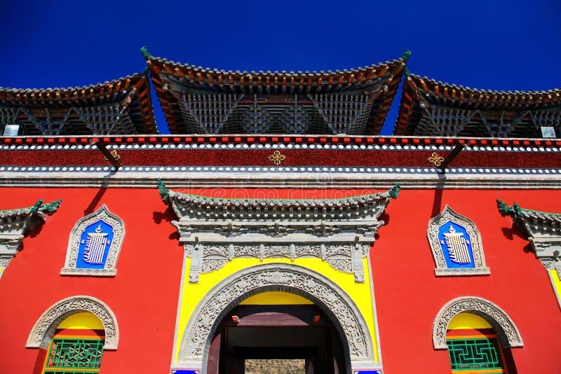 Kumbum monaster, taersi, w Qinghai, Chiny zdjęcie stock