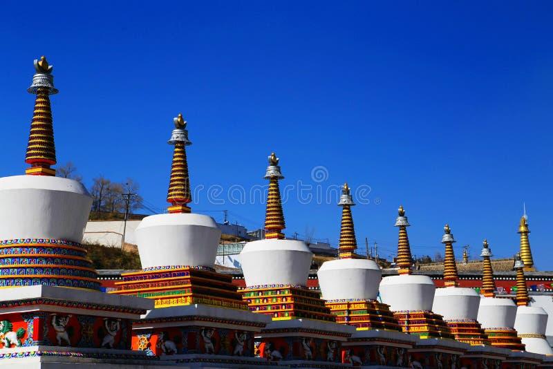 Kumbum monaster, taersi, w Qinghai, Chiny obrazy stock