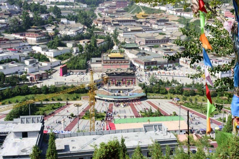 Kumbum Monastery(Ta'ersi Temple) panorama royalty free stock image