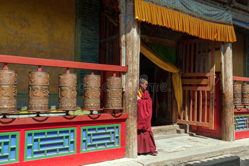 Kumbum monastery in Qinghai Province, China stock photos