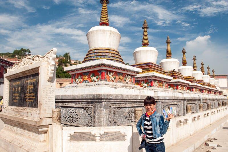 Kumbum monastery in Qinghai Province, China stock photography