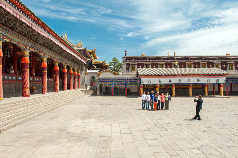 Kumbum monastery in Qinghai Province, China royalty free stock photography