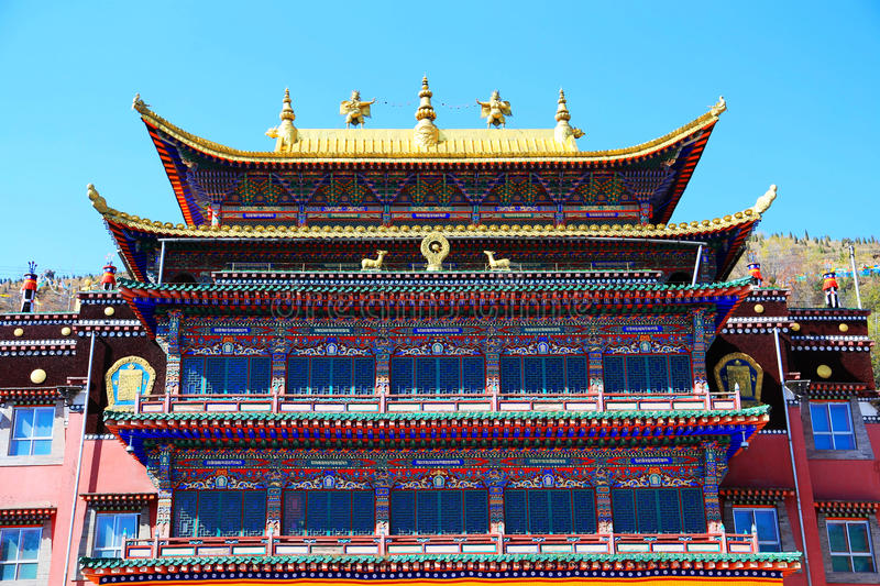 Kumbum Monastery , taersi, in Qinghai , China. Kumbum Monastery is one of the six monasteries of the Gelug Sect of Tibetan Buddhism and the highest institution royalty free stock images
