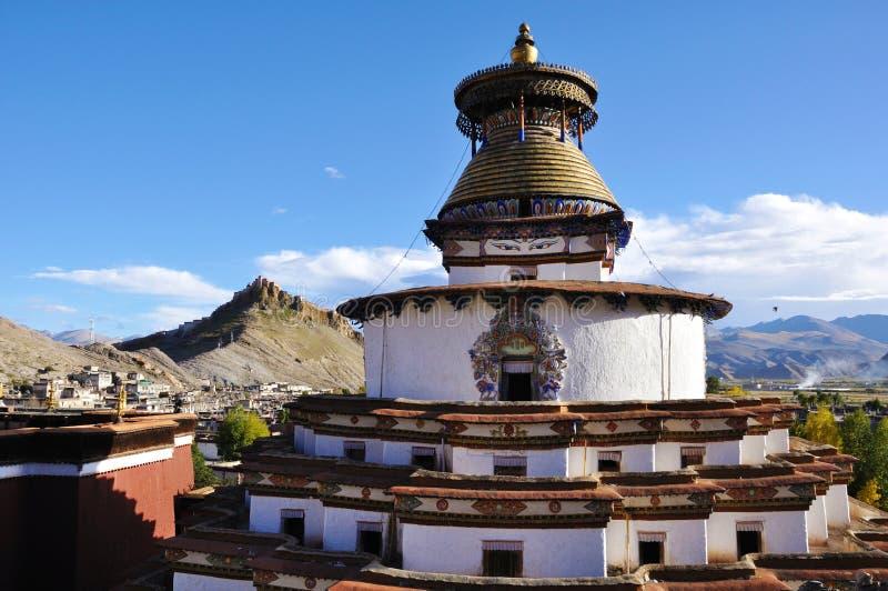 Kumbum Stupa Tibet stockbild
