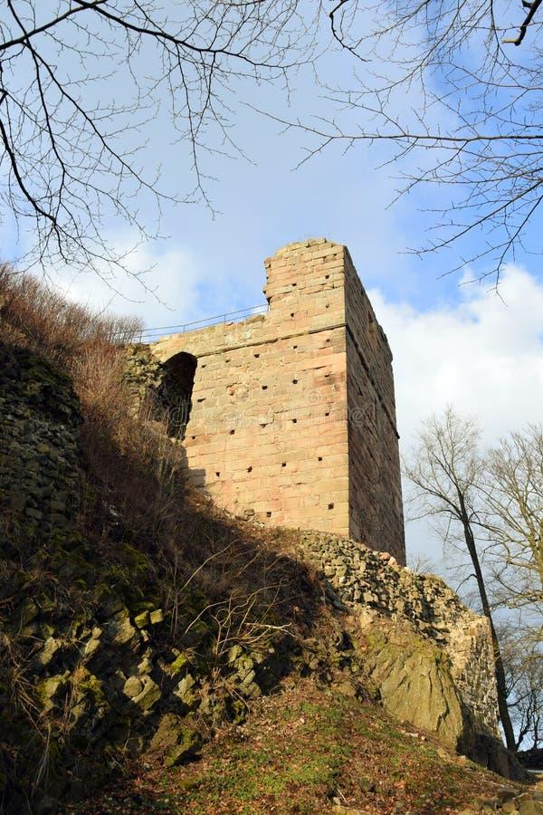 Kumburk - Castle Ruin in Winter. Bohemian Paradise in Czech republic stock images