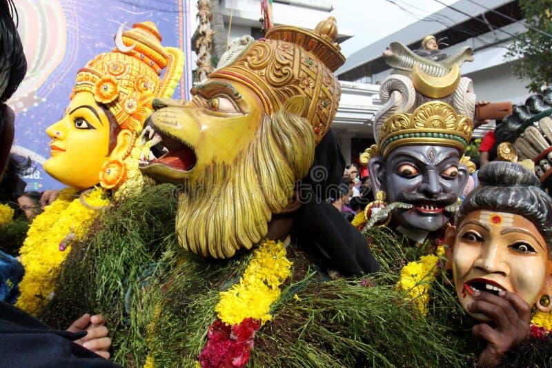 Kummatti Mahotsavam 2016 stock afbeelding