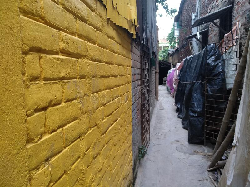 Kumortuli where major art and craft making happens for Daserra festival in kolkata. Kumortuli is officially known as porters quarter in Kolkata, where thousands royalty free stock photos